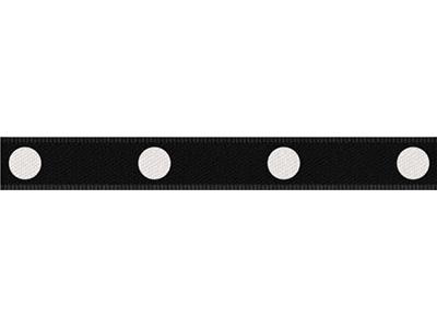 cotta ドットリボン(大) ブラック×ホワイト 9mm×5m