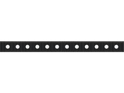 cotta ドットグログランリボン(大) ブラック×ホワイト 6mm×5m