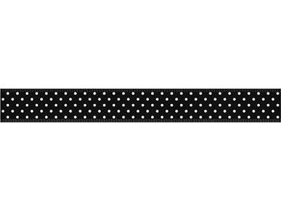 cotta ドットリボン ブラック×ホワイト 9mm×5m