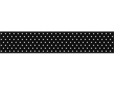cotta ドットリボン ブラック×ホワイト 16mm×5m