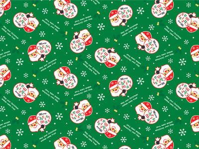 クリスマス包装紙 サンタズギフトG