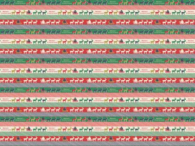 クリスマス包装紙 トナカイマーチ
