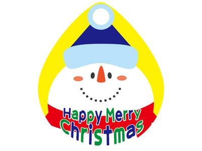 クリスマスペーパータグ ドロップスノーマン(20枚入)