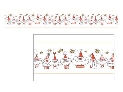 クリスマスマスキングテープ ごきげんサンタ