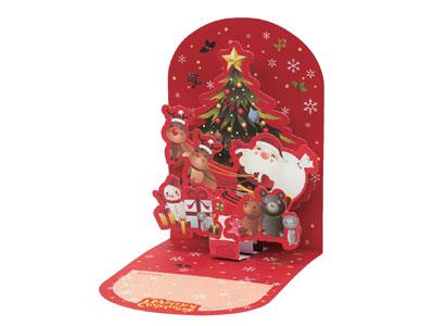 クリスマスポップアップカード POX-1609
