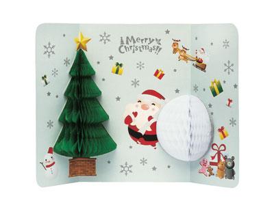 クリスマスポップアップカード POX-1607