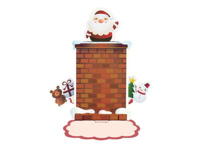 クリスマスポップアップカード POX-1603