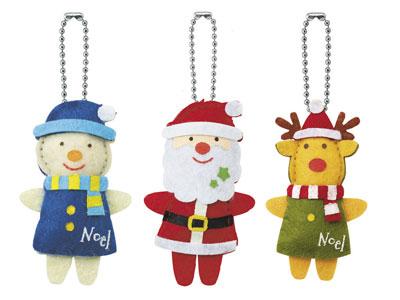 クリスマストリオマスコット(3柄アソート)