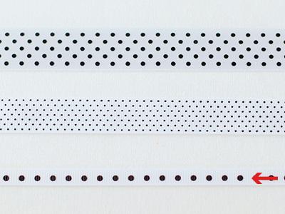 cotta ドットリボン ホワイト×ブラック 6mm×20m