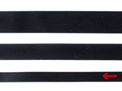 cotta 両面サテンリボン ブラック 9mm×20m