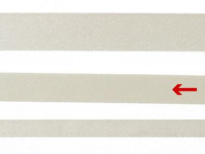 cotta 両面サテンリボン アンティークホワイト 16mm×5m