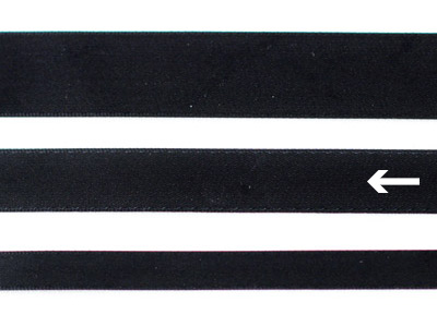 cotta 両面サテンリボン ブラック 16mm×5m