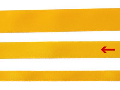 cotta 両面サテンリボン メイズオレンジ 16mm×5m