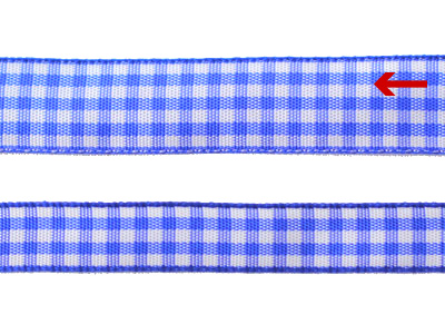 cotta ギンガムチェックリボン ブルー 16mm×5m