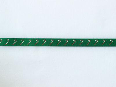 cotta リボン クリスマス ステッキ 緑 9mm×5m