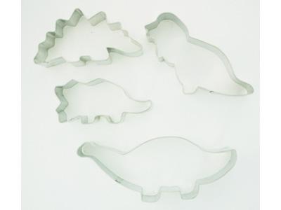 Fox Run クッキー型4pcセット 恐竜(ダイナソー)