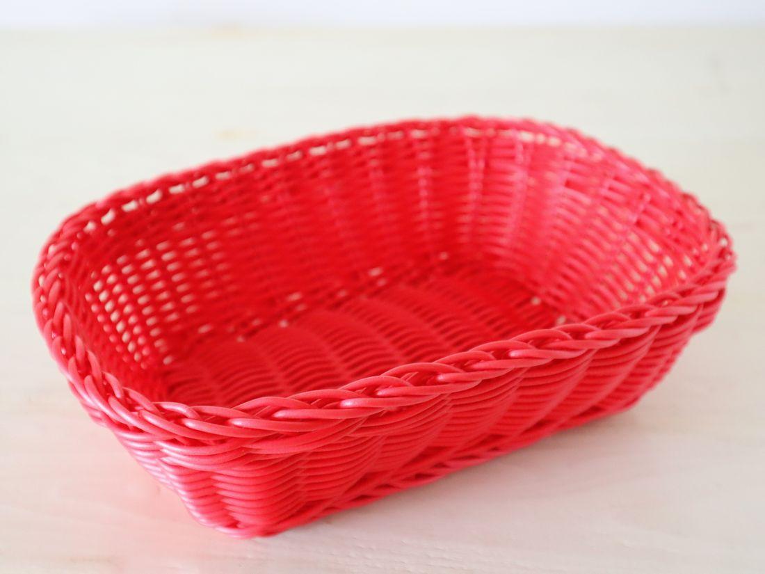 カルティエラタン 洗えるバスケット レクタングル M レッド