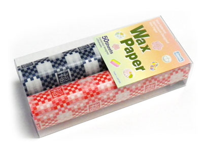 和風デザインWAXペーパー ハンディサイズ2柄 福枡セット(50枚入)