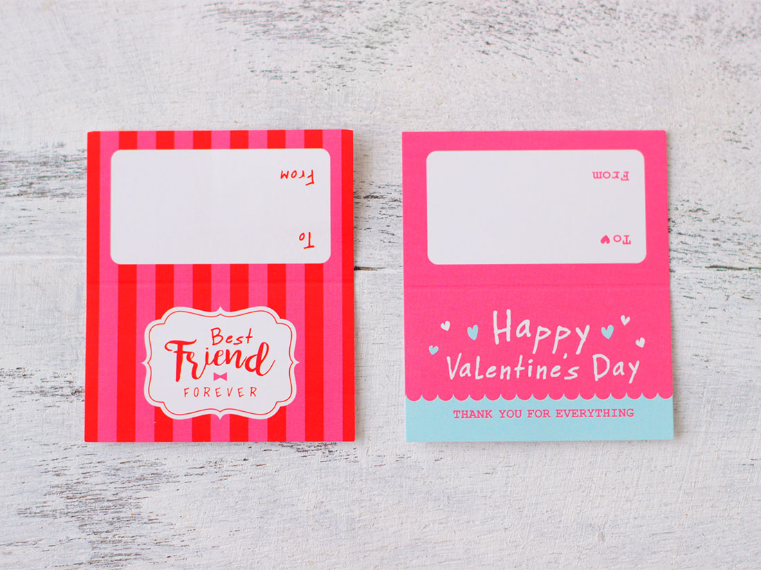 バレンタインペーパーヘッダー ピンク