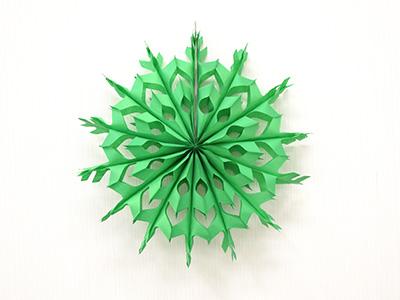ペーパーファン スノー緑36
