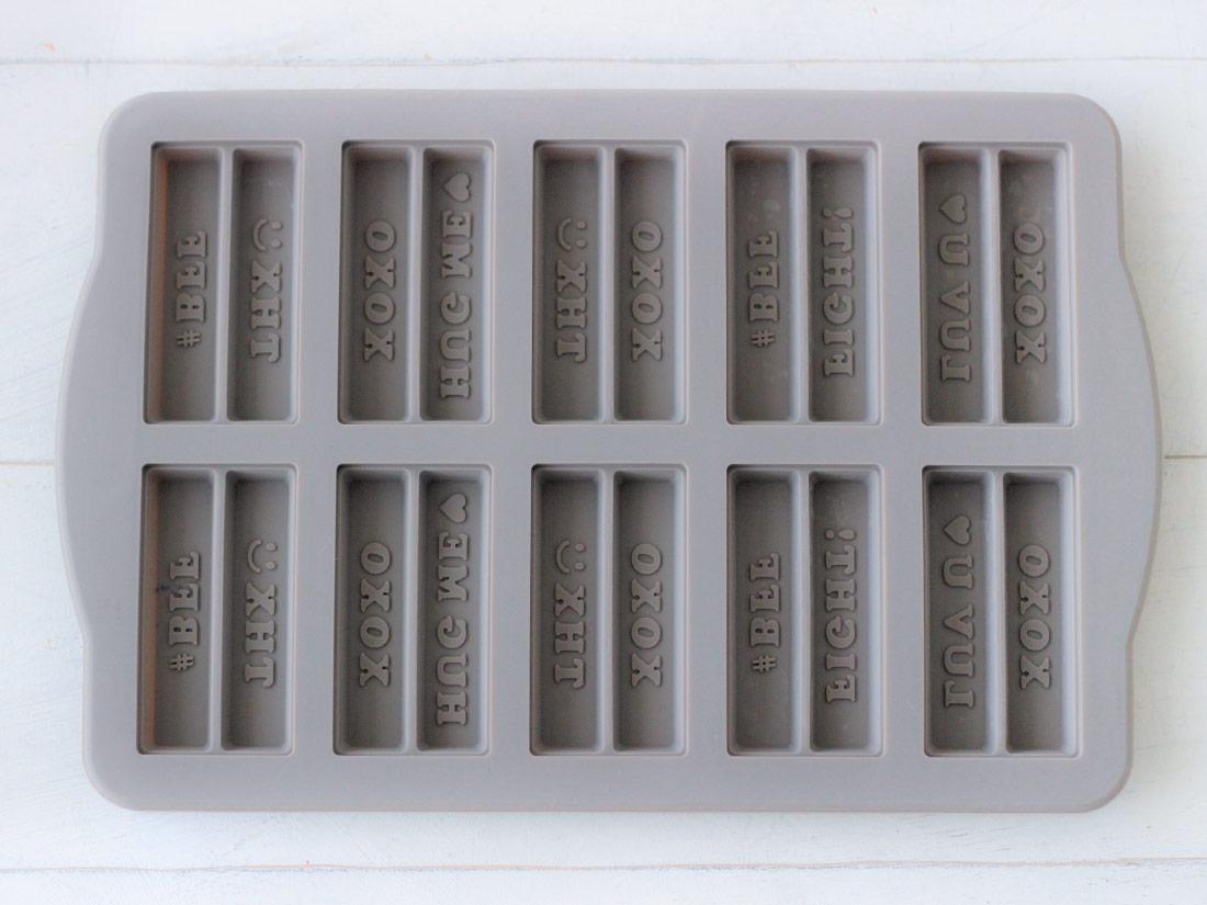 メッセージチョコレートバー モールド