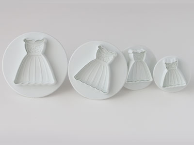 抜き型(ドレス 4個セット)