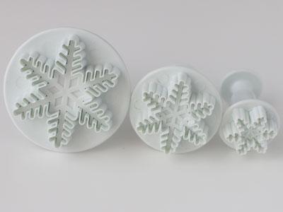 抜き型(雪の結晶 3個セット)
