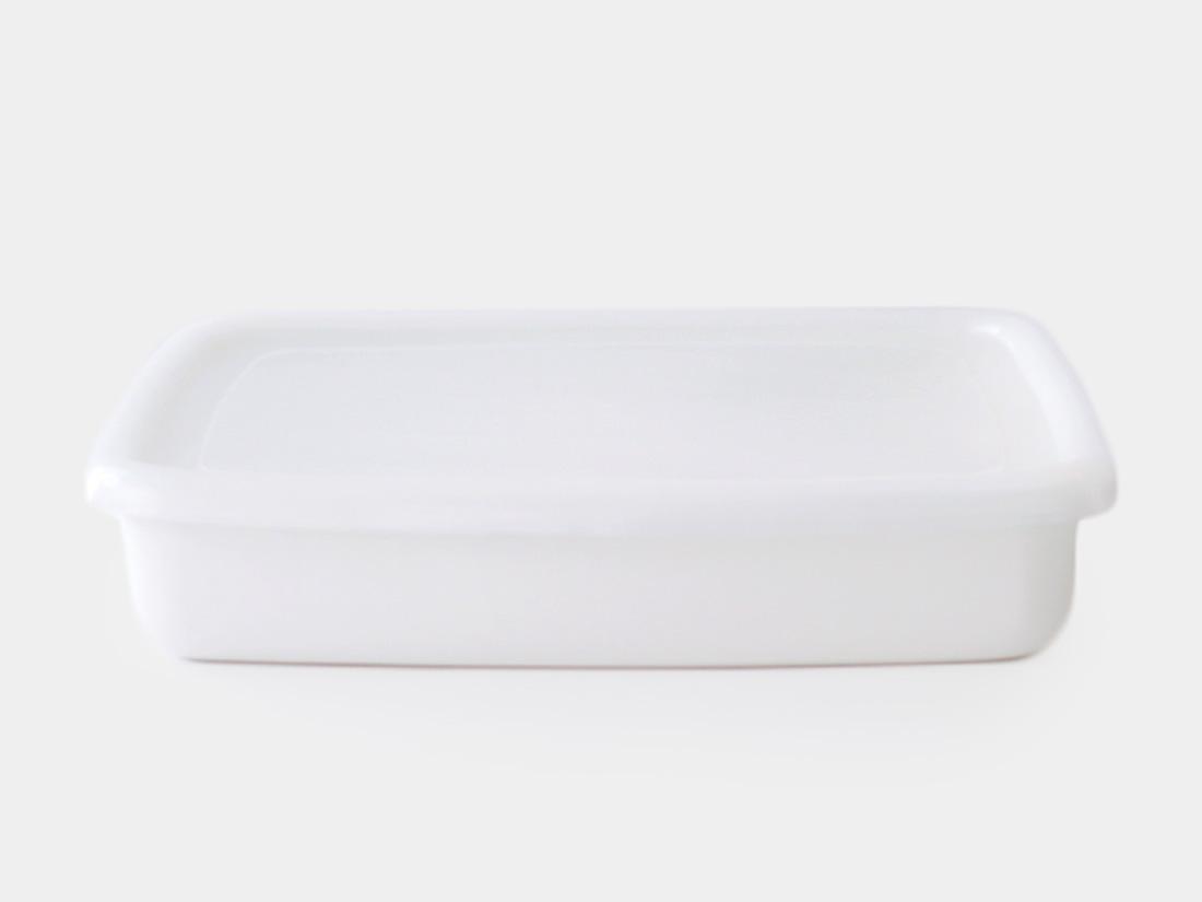 cotta 琺瑯 角バット21cm ホワイト