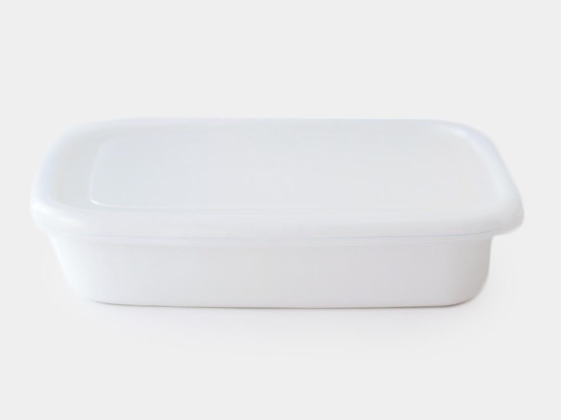 cotta 琺瑯 角バット24cm ホワイト