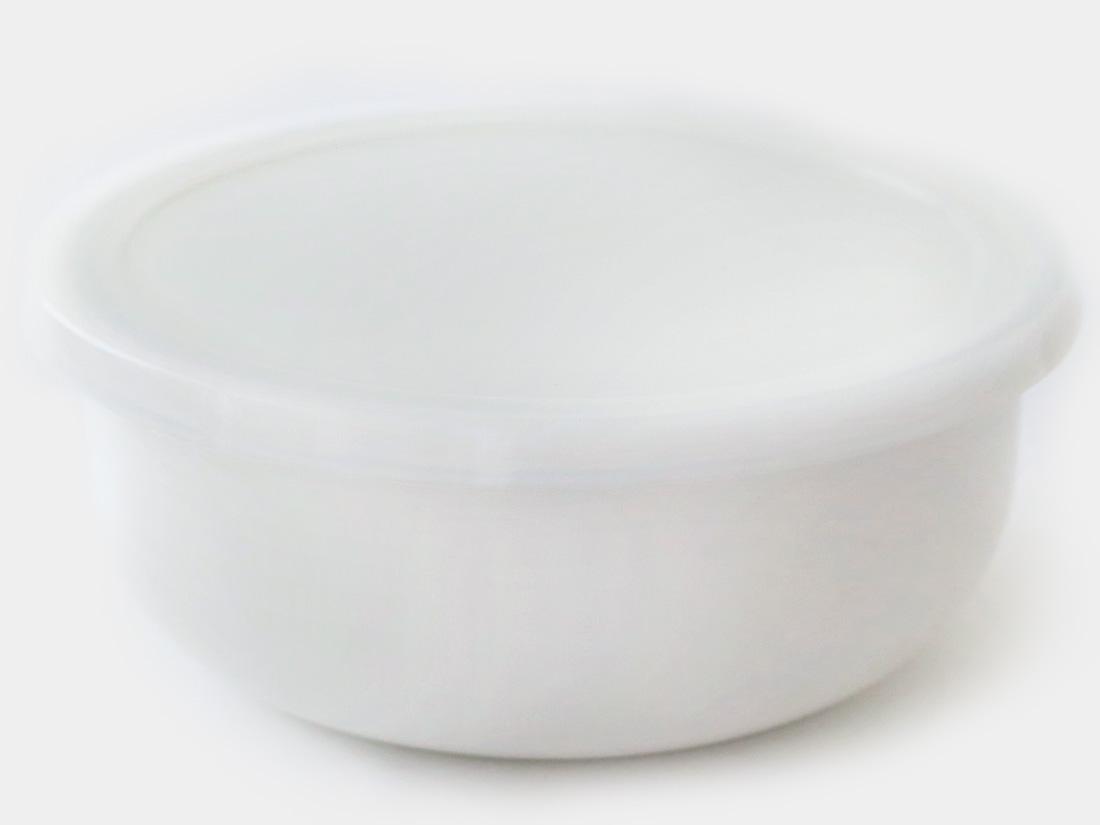 cotta 琺瑯 丸型16cm ホワイト