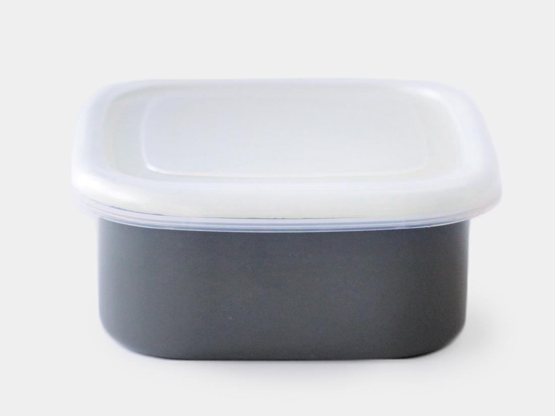 cotta 琺瑯 角型12cm グレー