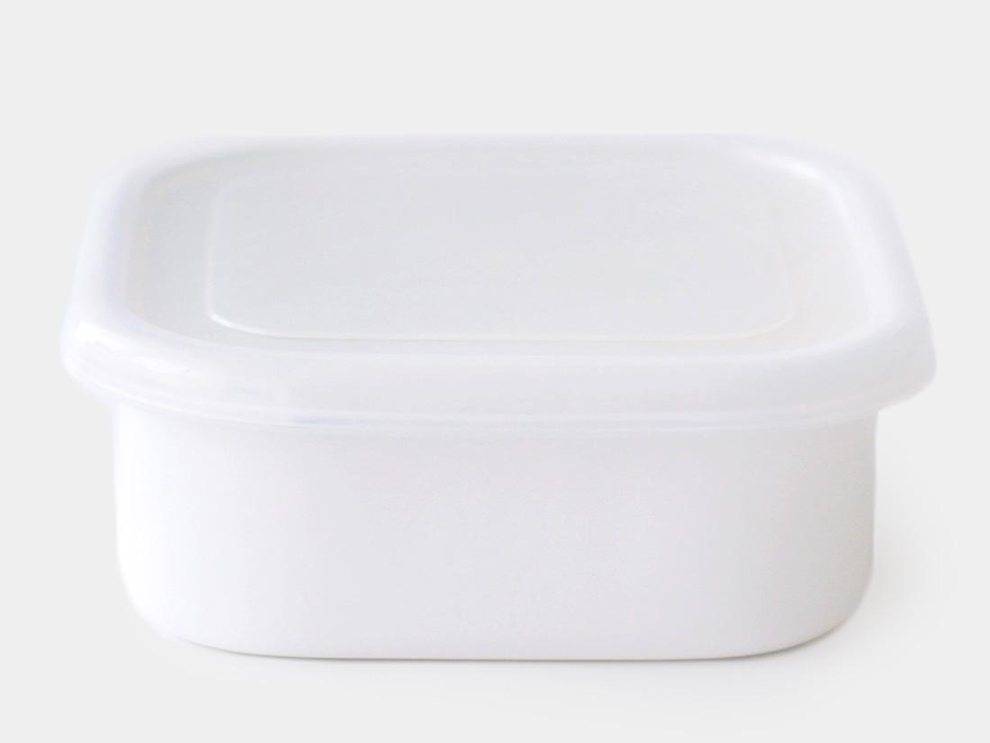 cotta 琺瑯 角型14cm ホワイト