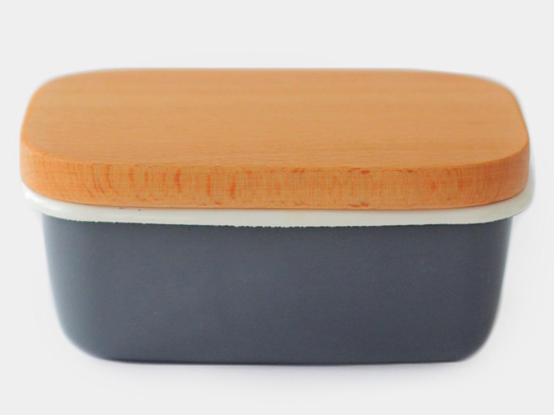 cotta 琺瑯 バターケース グレー