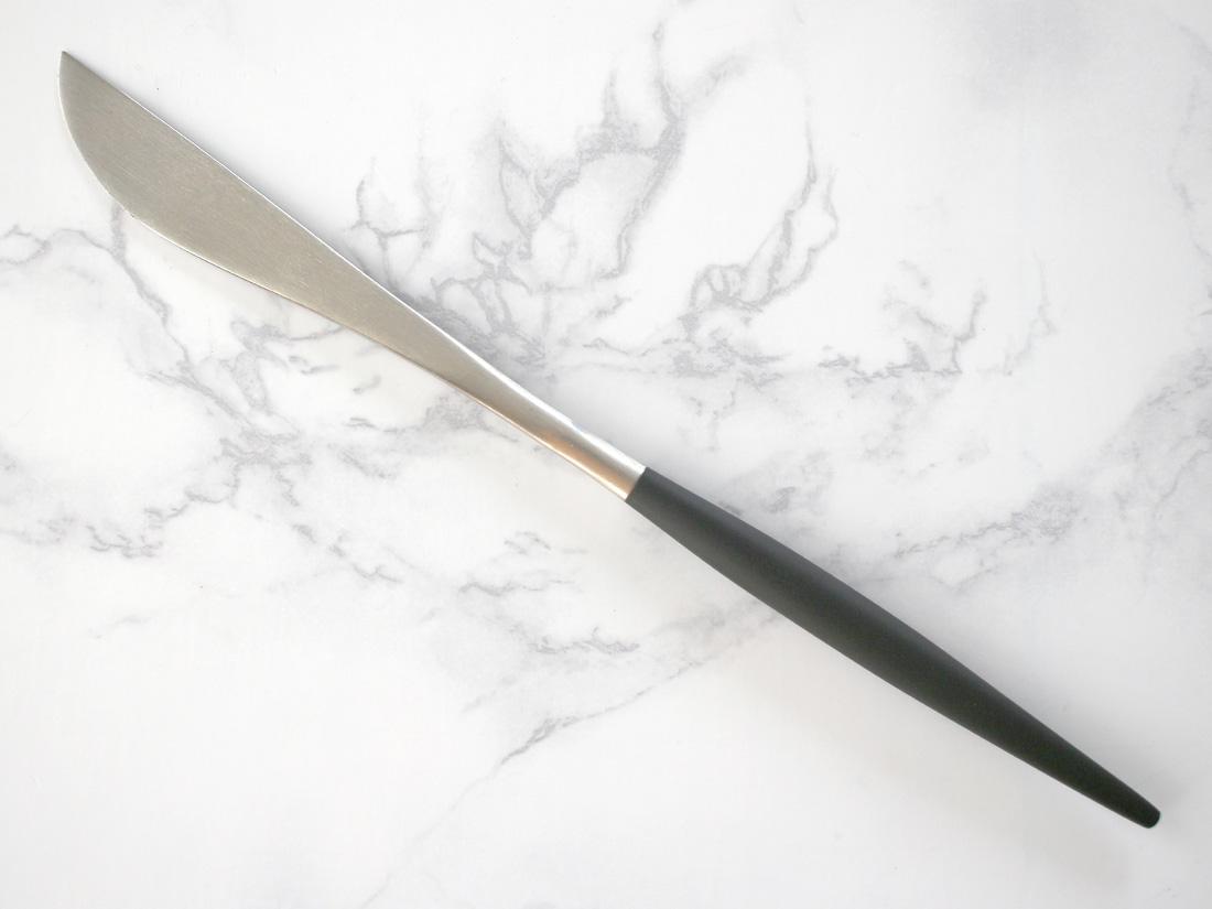ディナーナイフ(ブラック×シルバー)