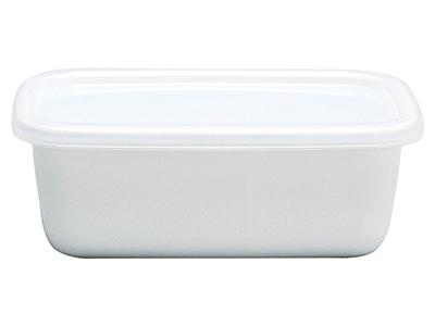 野田琺瑯 ホワイトシリーズ レクタングル深型Sシール蓋付
