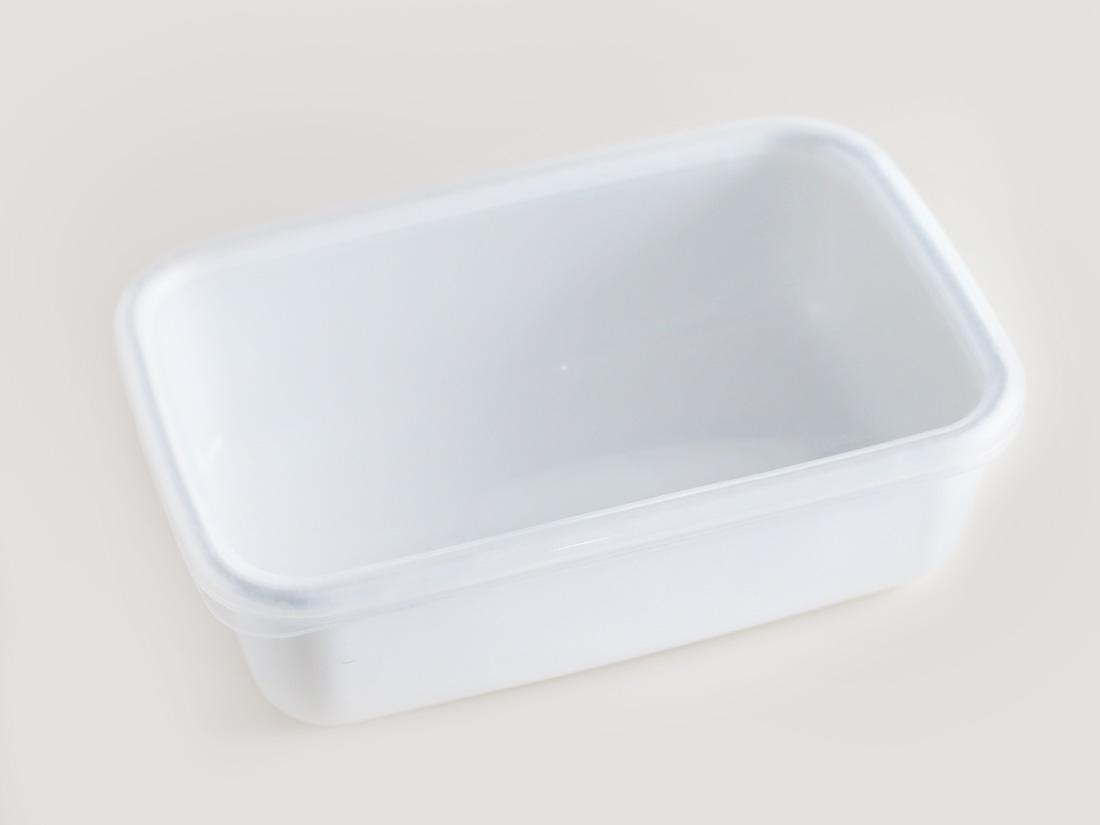 野田琺瑯 ホワイトシリーズ レクタングル深型Lシール蓋付