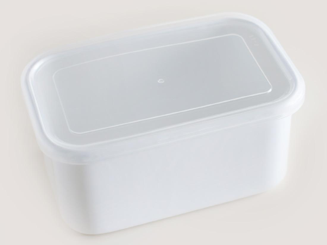 野田琺瑯 ホワイトシリーズ レクタングル深型LLシール蓋付