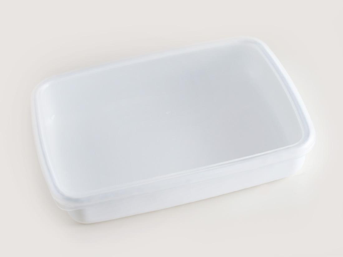 野田琺瑯 ホワイトシリーズ レクタングル浅型Mシール付