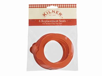 KILNER ラウンドクリップトップジャー用ラバーシールB(6枚)