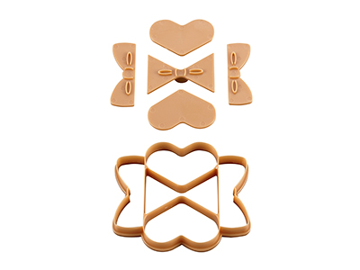一度にたくさん抜けるクッキー型 ハート・リボン