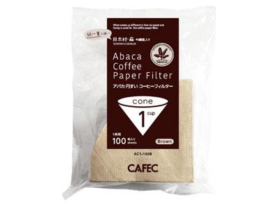 CAFEC アバカ円すいコーヒーフィルター AC1-100B