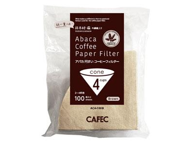 CAFEC アバカ円すいコーヒーフィルター AC4-100B