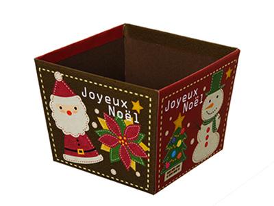 FMK台形BOX クリスマス アップリケ