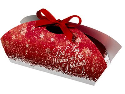 ケーキ箱 スノーフレーク 25×11