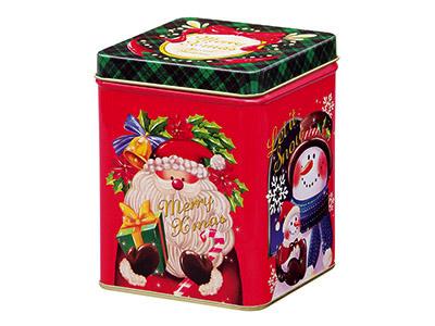 ブリキ缶 スカーレットクリスマス