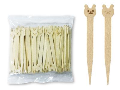 木製ピック アニマル(100本入)
