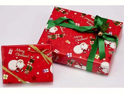 包装紙 プレゼントサンタ 半才