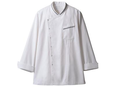 コックコート 6-1061(白/黒) S
