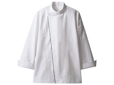 コックコート 6-1051(白/黒) L