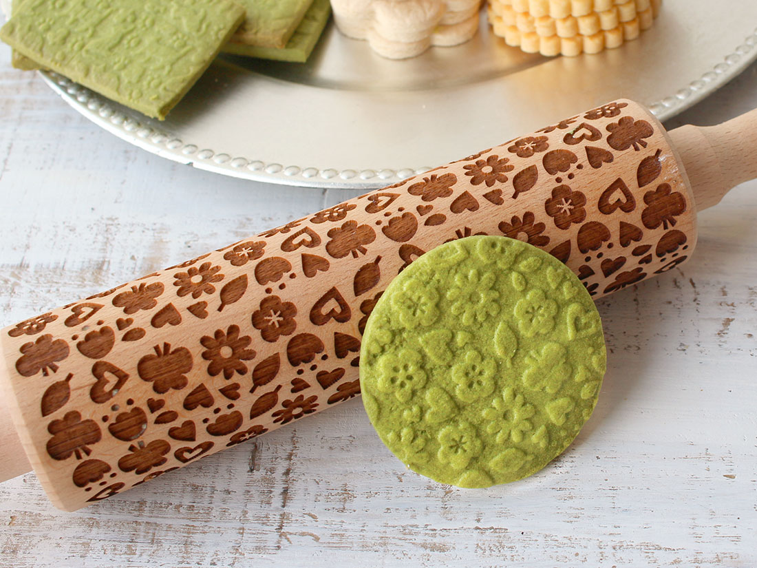 cotta 木製クッキーローラー フラワー
